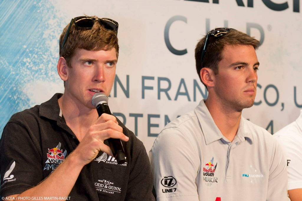 Peter Burling (left) and Will Tiller - RAYC Members at the Red Bull Youth America's Cup