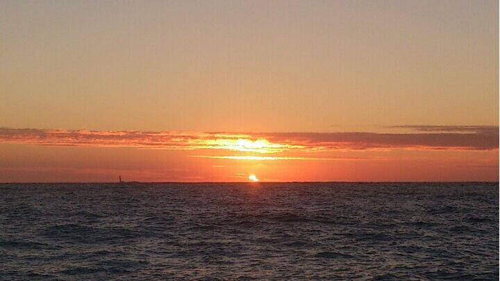 Django Sunday morning sunrise. Photo by boat