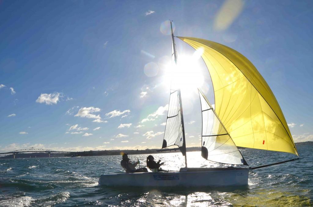 Tim & Gemma sailing