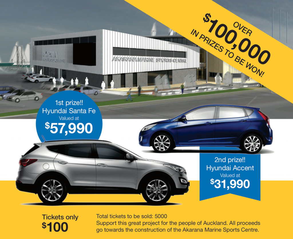Over $100,000 in prizes to be won including two Hyundai vehicles!