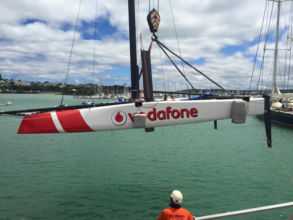Team Vodafone Sailing launch their new GC32 Foiling Cat