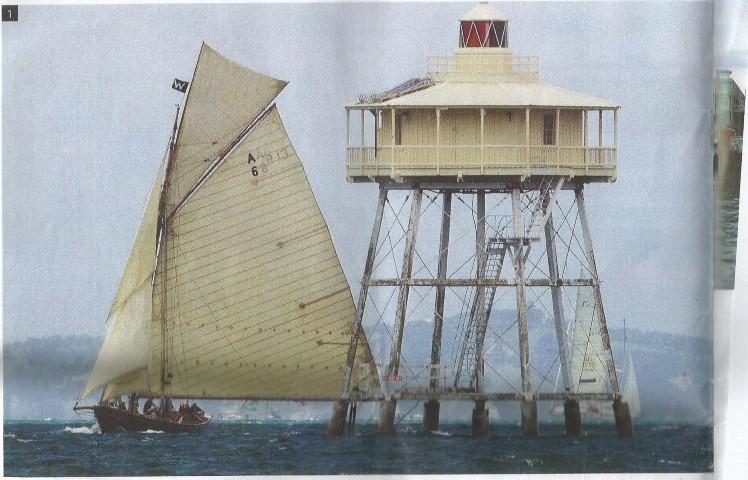 WAITANGI built 1894 passes Bean Rock