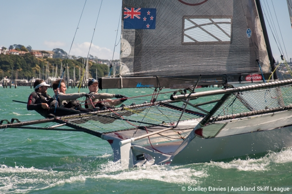 Yamaha leads after Day 1 of 18' Skiff NZL Championship