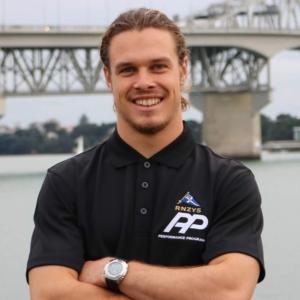 Peron Pearce. Skipper of the 18' Skiff MAERSK LINE