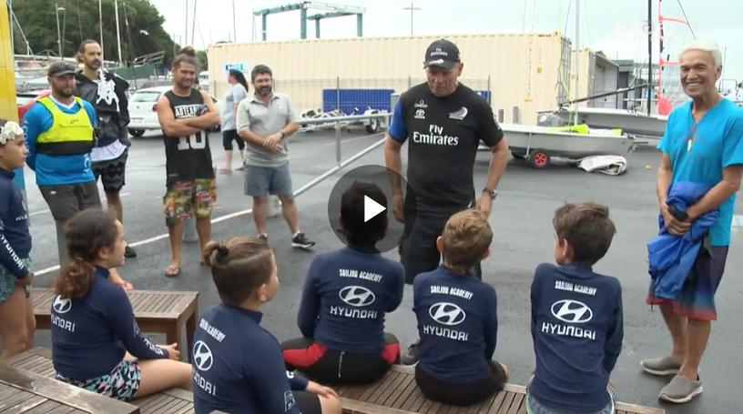 Grant Dalton supports Māori sailing kids at the Akarana Sailing Academy