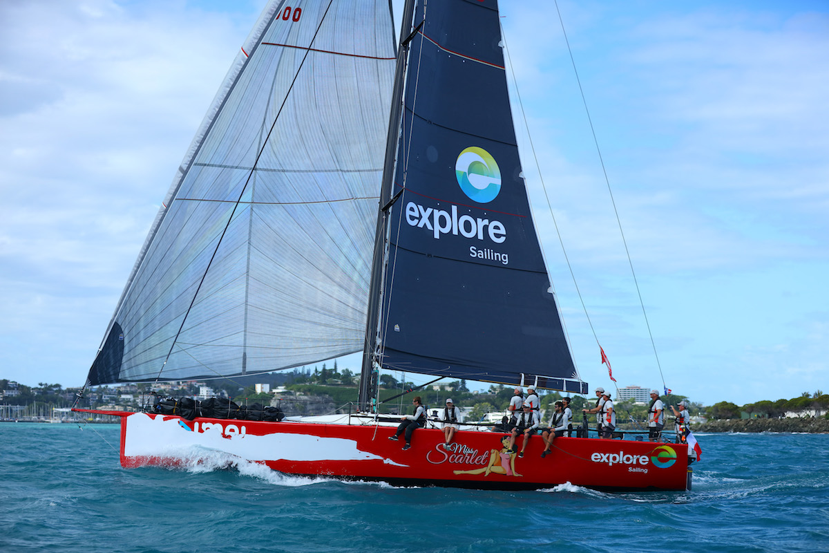 Miss Scarlet coming to the finish Groupama 2018_credit Eye Fly