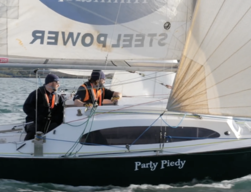 Party Piedy celebrates Race 1 of the SSANZ Safety at Sea Triple Series