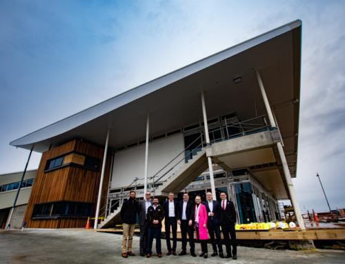 VIPs visit Hyundai Marine Sports Centre