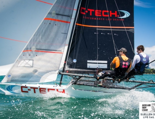 Season underway for Kiwi 18′ Skiffs