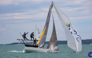 18' Skiffs. Photo: Rachel von Zalinski - Live Sail Die