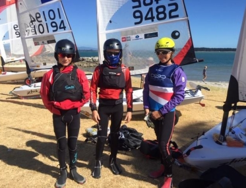 Akarana sailors at the Tauranga Centreboard Regatta