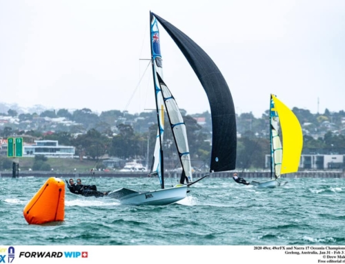 Podium finishes for RAYC sailors at the 49er, 49erFX & Nacra 17 Oceania Championships